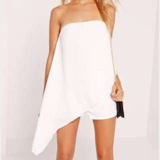 missguided playsuit asymmetric white