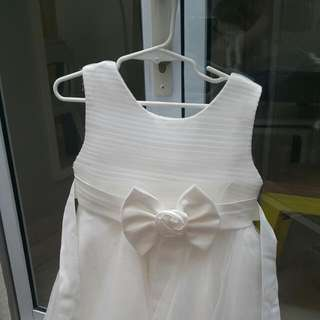 White Gown For Girls (with Bolero)
