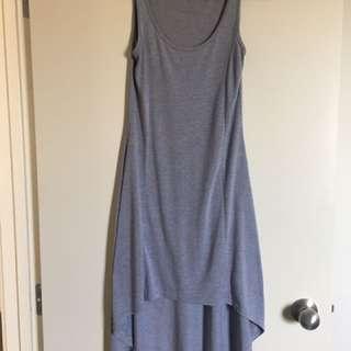 Grey Dip Hem Maxi Dress