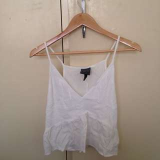 ALICE IN THE EVE White Crop Peplum Size 10