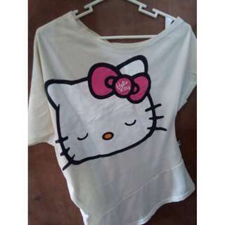 Hello kitty off-shoulder