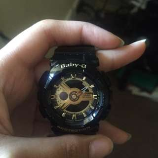 Black And Gold Baby G Watch