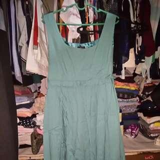 Velvet Dress - Bluegreen