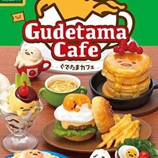 🚚 整套 蛋黃哥食玩 gudetama cafe