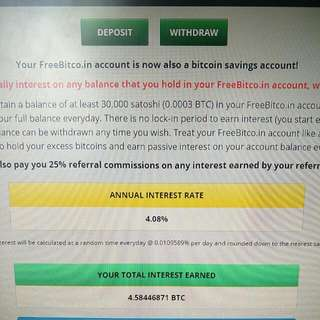 GET 4.08% INTEREST FOR BANKING YOUR $ INTO BTC!!