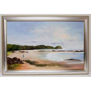 Beach Scene Oil Painting By Artist Joy Hanley