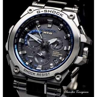 "CASIO G-SHOCK MT-G 日本版 ""MTG-G1000D-1A2JF"" ( G-SHOCK MT-G 系列/GPS電波受信機能/電波受信機能/TOUGH SOLAR/MTG-G1000D-1A2/1A/1)(可簽卡/可分期/現金交易優惠)12/23"