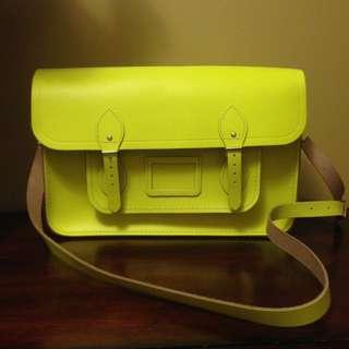 Brand new fluorescein Cambridge satchel