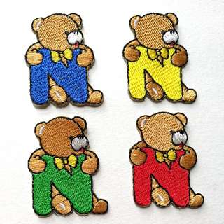 Iron On Patch/ Applique  ↪ 🐻🐻 Bear with Alphabet N 💱 $1.80 Each Piece