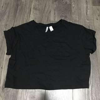 Black Pocket Tee Shirt Top
