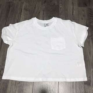 White Pocket Tee Shirt Top