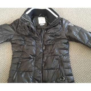 Black waterproof puffer jacket
