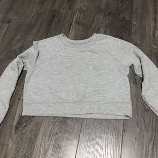 Grey Crop Top Sweater