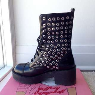 Jeffrey Campbell Lace up Boots