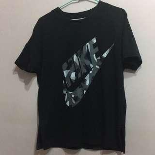 Nike 正版 迷彩 logo女短T