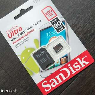 Scandisk 200gb Micro Sd Card