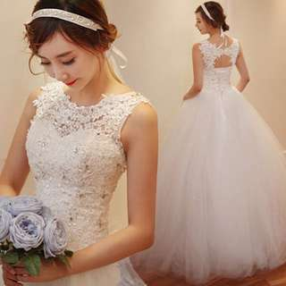 Ready Stock Wedding Gown