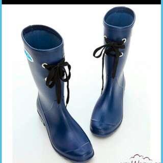 Uniweather深藍綁帶雨靴