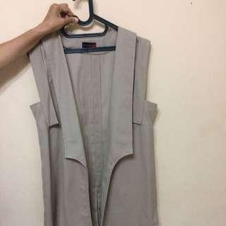 Cream Long Vest