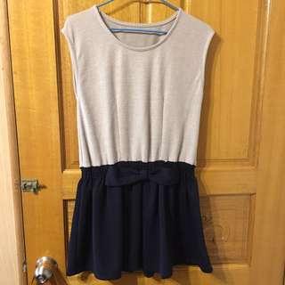 針織/鬆緊腰帶洋裝
