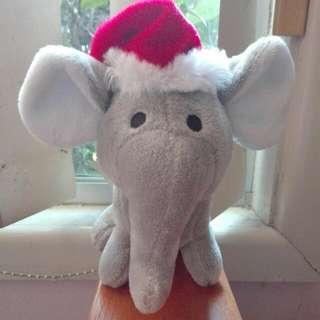 Christmas Elephant Plush Toy