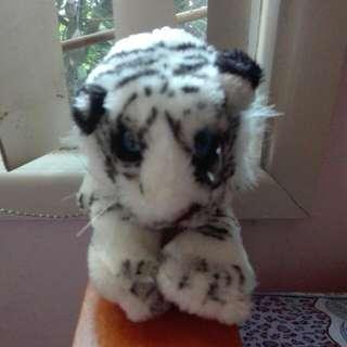 White Snow Tiger Soft Toy