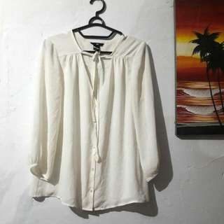 Blouse Off White H&m
