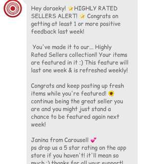 Highly Rated Seller. THANK YOU GUYS 😊