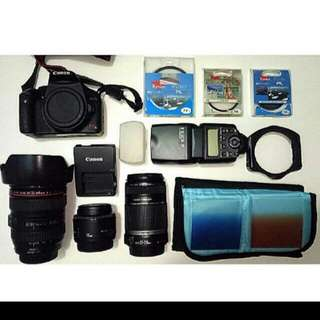 REDUCED ! CANON DSLR FULL SET (Free Bag)
