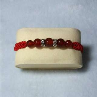 紅瑪瑙編織手鍊