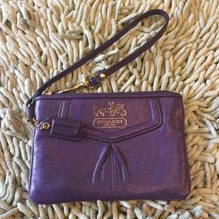 💯Authentic Coach Wristlet (Leather)