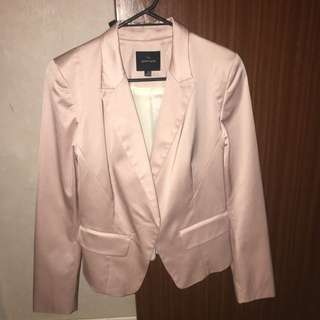 Portmans Size 10 Cotton Pink Blazer