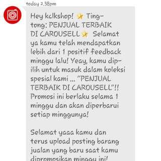 Thanks Carousell!!! ♡