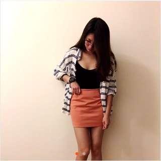 粉橘色 裙子/襯衫