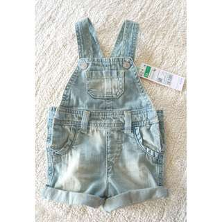 NEW United Colors of Benetton Baby Denim Dungarees