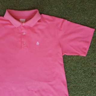 Vintage 90s Pink Penguin Polo Shirt / Embroidered