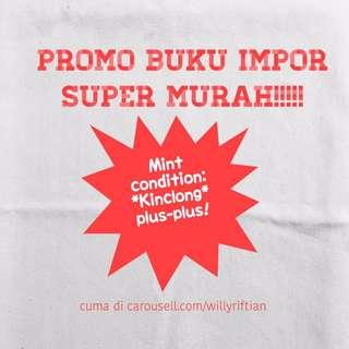 Promo buku impor murah! silahkan mampir di Lapak kita ya!