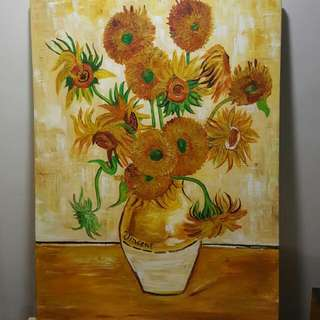 Sunflowers (Tournesols) Oil Painting