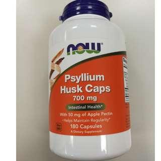 Now Foods Psyllium Husk Powder洋車前子纖維粉天然便秘腸道蠕動