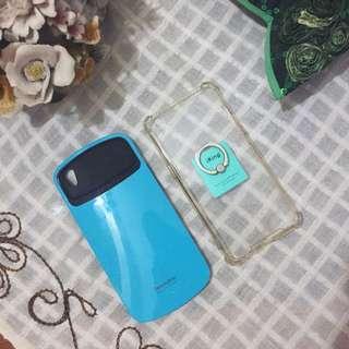 Oppo F1+ F1 Plus Case - I Face Biru & Clear Bening Anti Shock/Crack Case