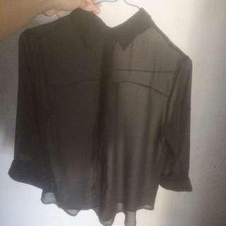 Forever21 Blouse Black