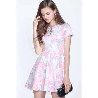 Fayth Violet Dress In Pink/lavender