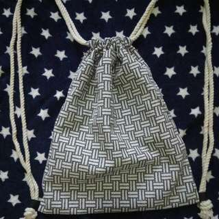 Patterned Drawstring Bag
