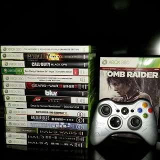 Xbox 360 Games & Halo Reach Controller