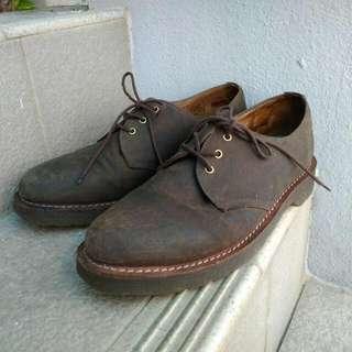 Dr Martens Lester Shoes UK 7 Wax Canvas