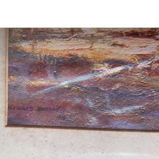 Antique Painting - Howard Barron - 1919 - Dry Season
