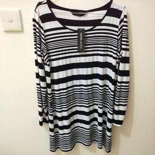 Simplicity Striped Midi Dress