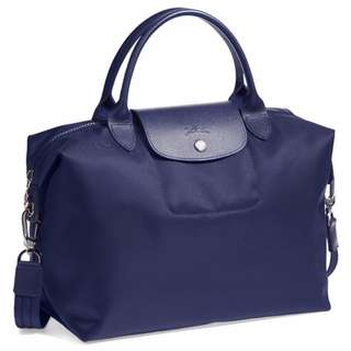Longchamp Neo Medium Navy Blue Bags (New, Genuine, On Hand and Available for Shipping)