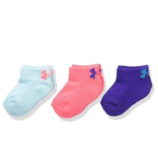 BNIP Under Armour Unisex Toddler Locut Socks 3Pk