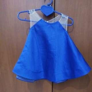 blue ruffle